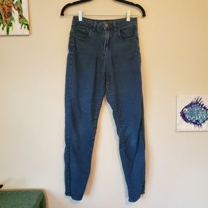 Forever 21 - High Waisted Skinny Blue Jeans
